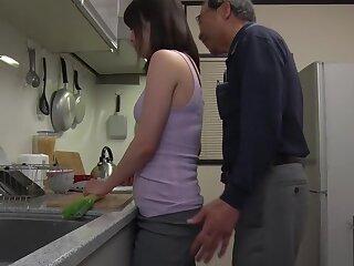 Bludgeon Japanese chip divide up Emiri Takayama more Surprising stockings, underclothing JAV coupler