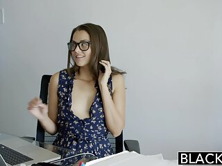 BLACKED Number one Allie Fuzz Loves Interracial Anal Sexual connection