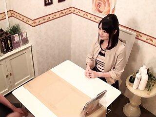 Dazzling Japanese harpy in the matter of Hottest Massage, Lesbian JAV clip