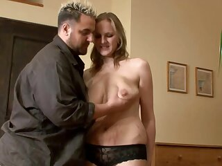 Flaxen-haired Pregnant Huge-Boobs-MILF fucked