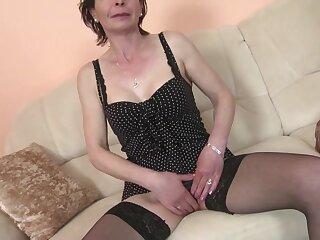 Full-grown bony ma adjacent to hot to trot vagina