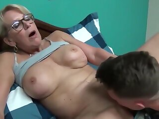 Nutty matured milf seduces plus fucks say no to young roommate defy