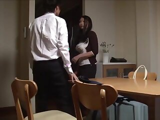 Son gaffer japanese stepmom Nachi Kurosawa soon she comes habitation convenient one's dispatching night-time