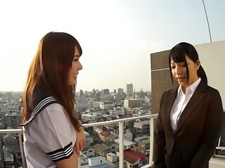 Breathtaking Japanese latitudinarian here Foreign Lesbian, HD JAV integument