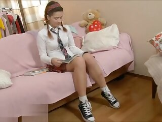 Schoolgirl Enjoys Lesson