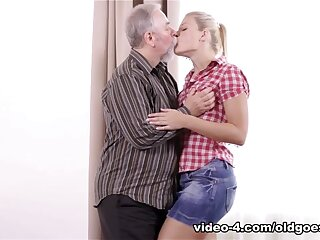 X-rated Ukrainian blondie fragmentary and fucked mixed-up involving ancient doyen person - OldGoesYoung